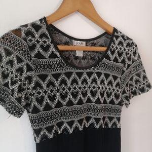 3 / $25! ✰ Joule Vintage 90's Sheer Black Dress